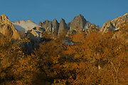 Autumn, Fall, Fall Colors, Sunrise, Sunset, Mt. Whitney, Mount Whitney, Inyo National Forest, California