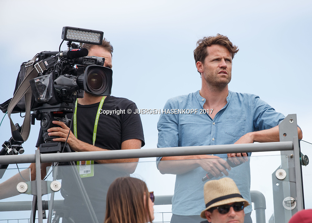 Wimbledon Feature, Moritz Lang, TV-Reporter, TV-Moderator und TV-Redakteur bei Sky Sport News HD<br /> <br /> Tennis - Wimbledon 2017 - Grand Slam ITF / ATP / WTA -  AELTC - London -  - Great Britain  - 7 July 2017.