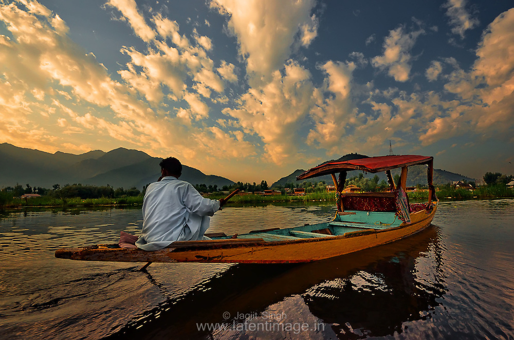 People use boats to commute within the Dal lake and to the city in Srinagar,India.