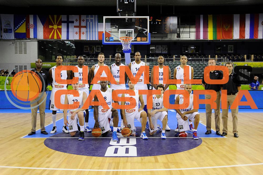 DESCRIZIONE : Lubiana Ljubliana Slovenia Eurobasket Men 2013 Preliminary Round Francia Germania France Germany<br /> GIOCATORE : Team Francia Team France<br /> CATEGORIA : ritratto portrait<br /> SQUADRA : Francia France<br /> EVENTO : Eurobasket Men 2013<br /> GARA : Francia Germania France Germany<br /> DATA : 04/09/2013 <br /> SPORT : Pallacanestro <br /> AUTORE : Agenzia Ciamillo-Castoria/Herve Bellenger<br /> Galleria : Eurobasket Men 2013<br /> Fotonotizia : Lubiana Ljubliana Slovenia Eurobasket Men 2013 Preliminary Round Francia Germania France Germany<br /> Predefinita :