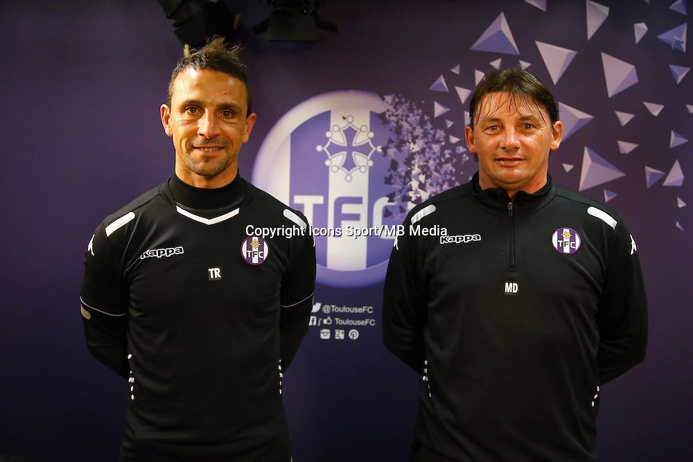 Teddy Richer / Mickael Debeve  - 16.03.2015 - Nouvel entraineur  - Conference de presse de Toulouse <br /> Photo :  Manuel Blondeau / Icon Sport<br />  *** Local Caption ***