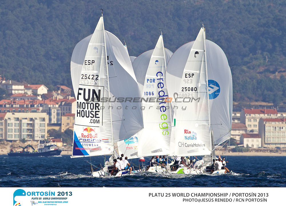 Platu 25 World Championships, Portosín , Galicia, Spain. 24-29 September 2013  Practice race ©