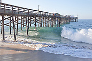 Waves Crashing at Balboa Peninsula Pier