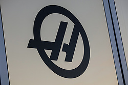 February 18, 2019 - Montmelo, BARCELONA, Spain - Rich Energy Haas F1 Team logo during the Formula 1 2019 Pre-Season Tests at Circuit de Barcelona - Catalunya in Montmelo, Spain on February 18. (Credit Image: © AFP7 via ZUMA Wire)