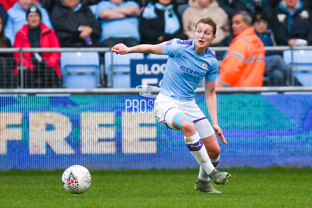 Manchester City Women forward Ellen White (18) in action during the FA Women's Super League match between Manchester City Women and West Ham United Women at the Sport City Academy Stadium, Manchester, United Kingdom on 17 November 2019.