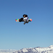 Sebastien Toutant, Canada, in action during the Slopestyle competition at the Burton New Zealand Open 2011 held at Cardrona Alpine Resort, Wanaka, New Zealand, 10th August 2011. Photo Tim Clayton