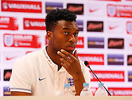 Daniel Sturridge of England during the England press conference at Est&aacute;dio Claudio Coutinho, Rio de Janeiro<br /> Picture by Andrew Tobin/Focus Images Ltd +44 7710 761829<br /> 16/06/2014