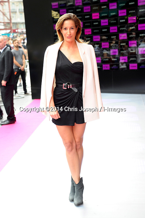 Image ©Licensed to i-Images Picture Agency. 16/07/2014. London, United Kingdom. Laura Pradelska attends the VIP screening of Kasabian, Vue Leicester square. Picture by Chris Joseph / i-Images