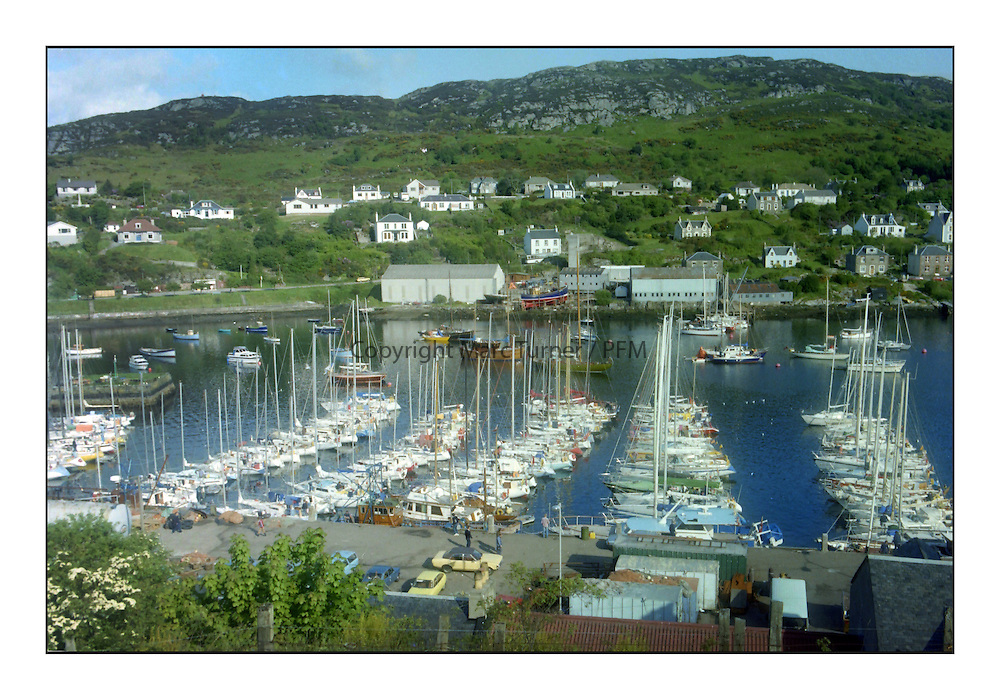 Historic Scottish Series Images, <br /> <br /> Tarbert Harbour 1981<br /> <br /> Picture Copyright  PFM Pictures