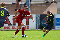 NUNEATON, ENGLAND - Sunday, July 30, 2017: Liverpool's Lloyd Jones and PSV Eindhoven's Mauro Junior during a pre-season friendly between Liverpool and PSV Eindhoven at the Liberty Way Stadium. (Pic by Paul Greenwood/Propaganda)