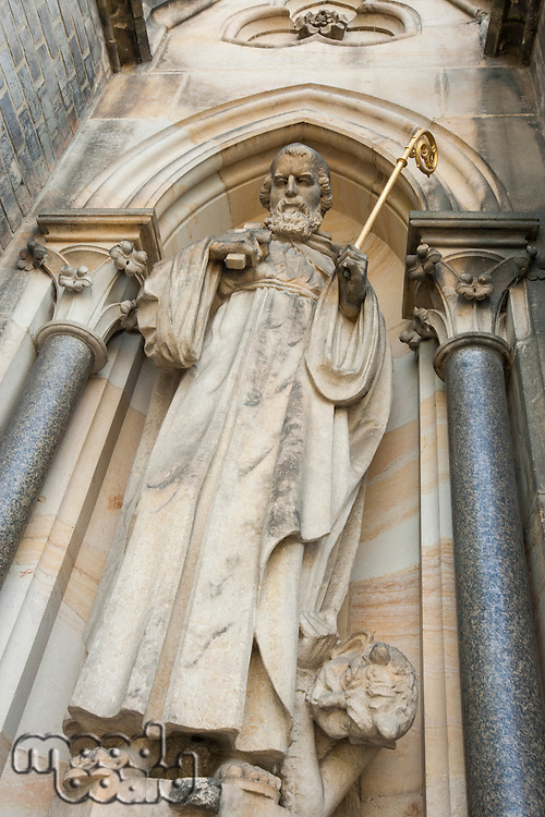 Low angle view of statue in Prague; Czech Republic