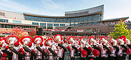 The UW Marching Band performs at Badger Bash at Union South in 2014. (