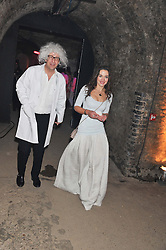 VERONICA SMIRNOFF and ? at Wanderlust - the Contemporary Art Society Annual Fundraising Gala held at Old Vic Tunnels, London on 13th March 2013.