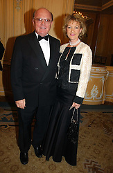 MR & MRS PETER SAVILL at the Cartier Racing Awards 2006 held at the Four Seasons Hotel, Hamilton Place, London on 15th November 2006.<br />