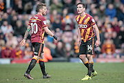 Josh Cullen (Bradford City) voices his displeasure at the assistant referee as he feels he is fouled but doesn't get the decision during the EFL Sky Bet League 1 match between Bradford City and Bolton Wanderers at the Coral Windows Stadium, Bradford, England on 18 February 2017. Photo by Mark P Doherty.
