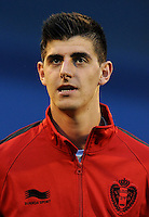 Football Fifa Brazil 2014 World Cup Matchs-Qualifier / Europe - Group A /<br /> Croatia vs Belgium 1-2  ( Maksimir Stadium - Zagreb , Croatia )<br /> Thibaut COURTOIS of Belgium , during the match between Croatia and Belgium