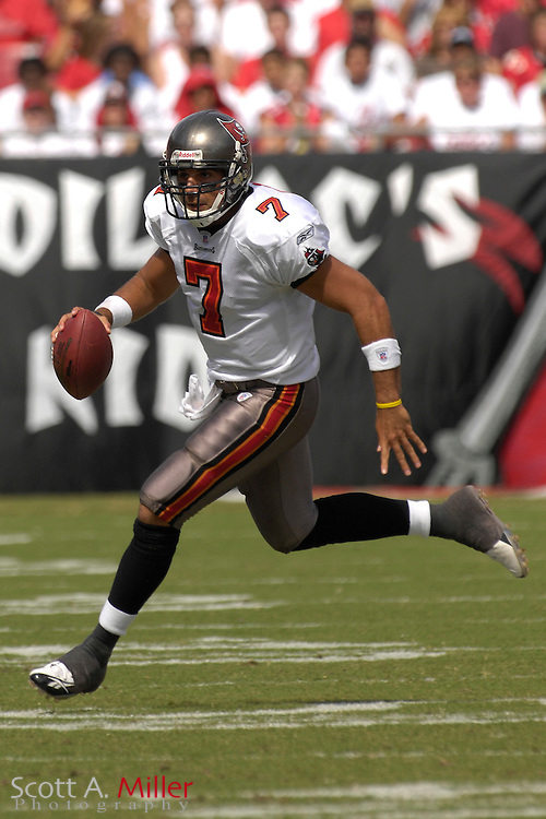 Oct. 15, 2006; Tampa, FL, USA;  Tampa Bay Buccaneers quarterback (7) Bruce Gradkowski in action during the first half against the Cincinnati Bengals at Raymond James Stadium. ...©2006 Scott A. Miller