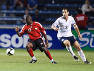 Cornell Glen (13), Carlos Bocanergra (3). The U.S. Men's National Team defeated Trinidad & Tobago 3-0 at Toyota Park in Bridgeview, IL on September 10, 2008.