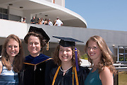 18276Undergraduate Commencement 2007..Left to right:..Rachel Wedd, Dean Fidler, Anna Weed, Sarah Grace Weed
