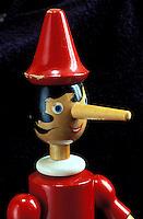 Italie - Toscane - Province de Lucca - Collodi - Marionnette de Pinocchio. // Italy, Tuscany, Lucca province, Collodi, Pinocchio puppet.