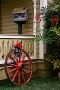 "Holiday season porch scene at Faust Hotel in Comfort, Texas NOTE: Click ""Shopping Cart"" icon for available sizes and prices. If a ""Purchase this image"" screen opens, click arrow on it. Doing so does not constitute making a purchase. To purchase, additional steps are required."