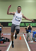Mar 3, 3017; Albuquerque, NM, USA; Austin Bahner jumps 24-6 1/2 (7.47m) in the heptathlon long jump for the top mark during the USA Indoor Track and Field championships at the Albuquerque Convention Center.