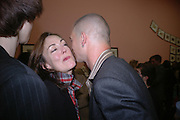 Judith Greer and Dinos Chapman. JAKE AND DINOS CHAPMAN'S ' Like a dog returns to its vomit' White Cube, Hoxton Sq and afterwards at Vic Naylor's. St. John St. London.   18 October 2005. ONE TIME USE ONLY - DO NOT ARCHIVE © Copyright Photograph by Dafydd Jones 66 Stockwell Park Rd. London SW9 0DA Tel 020 7733 0108 www.dafjones.com