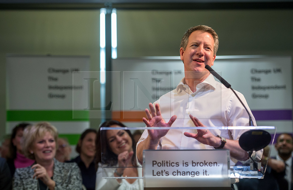 © Licensed to London News Pictures. 23/04/2019. Bristol, UK. CHRIS LESLIE MP who is one of the Change UK's candidates for the EU elections, at the Change UK – The Independent Group holding their European election campaign launch at We The Curious in Bristol's Millennium Square. Photo credit: Simon Chapman/LNP