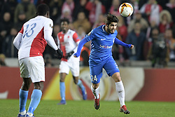 February 14, 2019 - Prague, CZECH REPUBLIC - Genk's Alejandro Pozuelo pictured in action during a soccer game between Czech club SK Slavia Praha and Belgian team KRC Genk, the first leg of the 1/16 finals (round of 32) in the Europa League competition, Thursday 14 February 2019 in Prague, Czech Republic. BELGA PHOTO YORICK JANSENS (Credit Image: © Yorick Jansens/Belga via ZUMA Press)