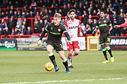 Forest Green Rovers George Williams(11) on the ball during the EFL Sky Bet League 2 match between Stevenage and Forest Green Rovers at the Lamex Stadium, Stevenage, England on 26 January 2019.