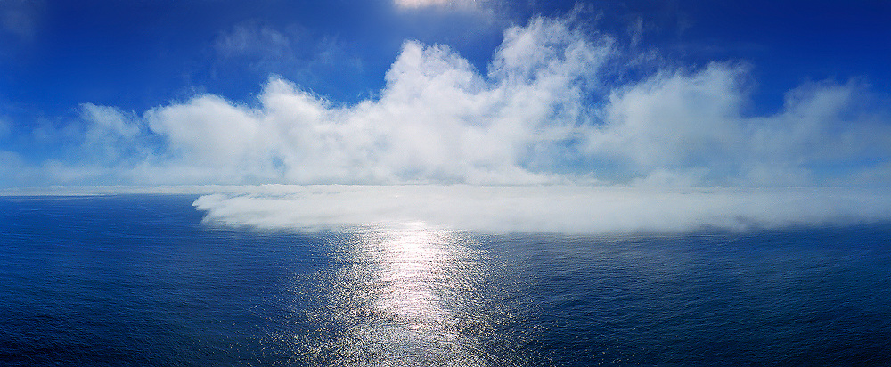 Arising sea fog, view from Valentia Island, Ring of Kerry, Ireland / vl077