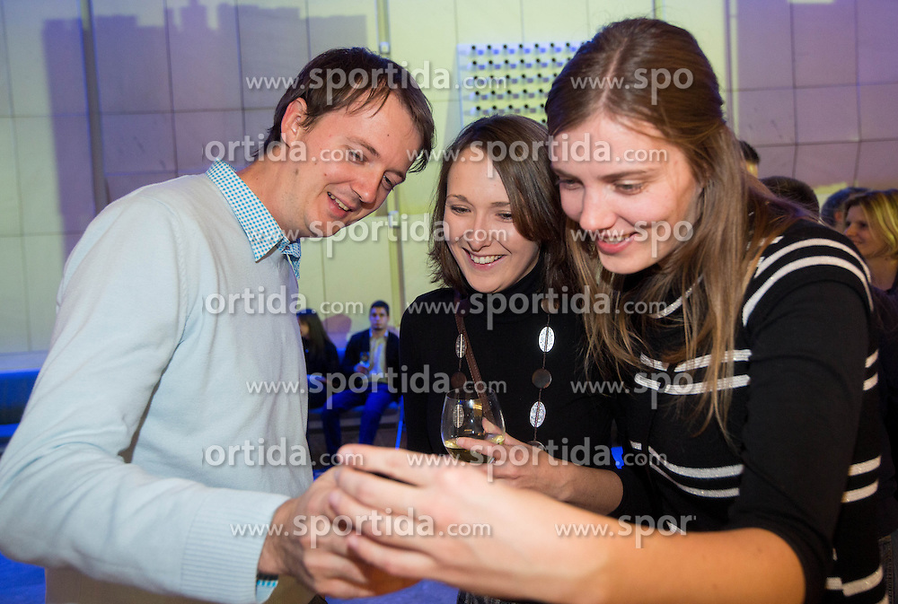 Andraz Rozman, Spela Robnik and Mojca Finc at Slovenian Sports personality of the year 2012 annual awards presented on the base of Slovenian sports reporters, on December 20, 2011 in Cankarjev dom, Ljubljana, Slovenia. (Photo By Vid Ponikvar / Sportida.com)