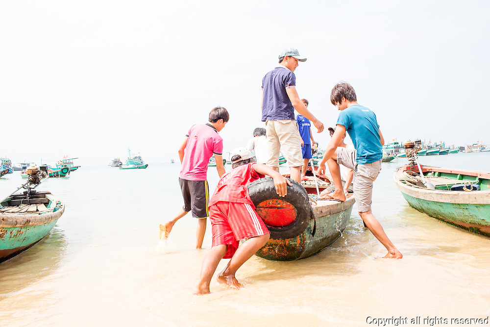 scenes from a beach on the north side of Phuc Quoc Island