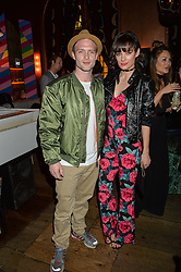 CHRIS FOUNTAIN and JESSICA DERRICK at a party to celebrate the launch of fashion retailer WeKoko.com held at Sketch, 9 Conduit Street, London on 13th April 2016.