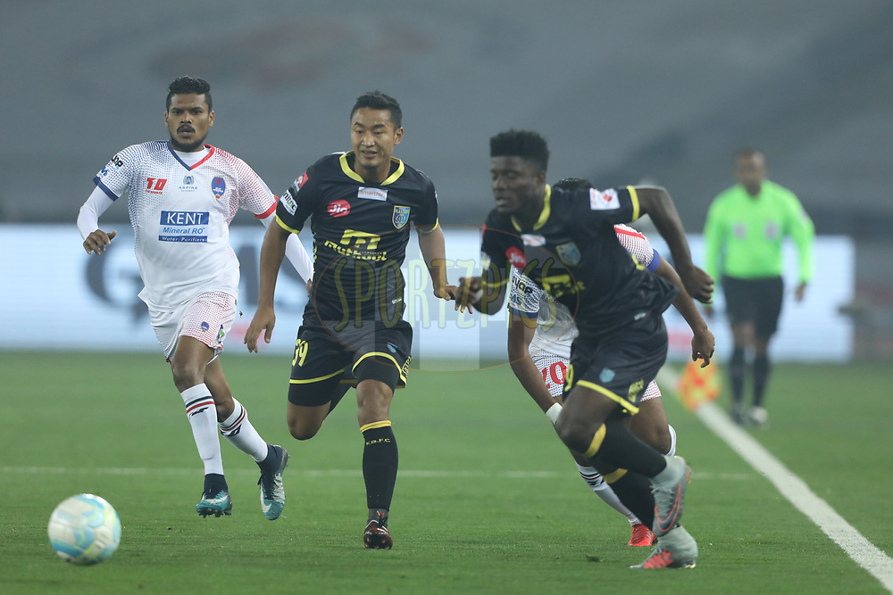 Lalruatthara of Kerala Blasters FC in action during match 43 of the Hero Indian Super League between Delhi Dynamos FC and Kerala Blasters FC  held at the Jawaharlal Nehru Stadium, Delhi, India on the 10th January 2018Photo by: Arjun Singh  / ISL / SPORTZPICS