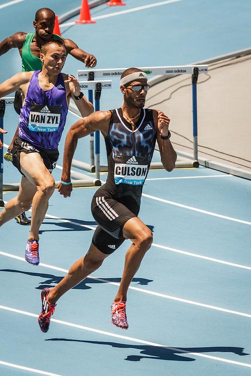 adidas Grand Prix Diamond League Track & Field: Men's 400m Hurdles, Javier Culson,