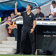BARCELONA, SPAIN - August 18:  Julen Lopetegui, head coach of Sevilla FC reacts on the sideline during the Espanyol V  Sevilla FC, La Liga regular season match at RCDE Stadium on August 18th 2019 in Barcelona, Spain. (Photo by Tim Clayton/Corbis via Getty Images)
