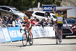 Katie Hall (USA) wins ahead of Anna van der Breggen (NED) at Amgen Tour of California Women's Race empowered with SRAM 2019 - Stage 2, a 74 km road race from Ontario to Mount Baldy, United States on May 17, 2019. Photo by Sean Robinson/velofocus.com