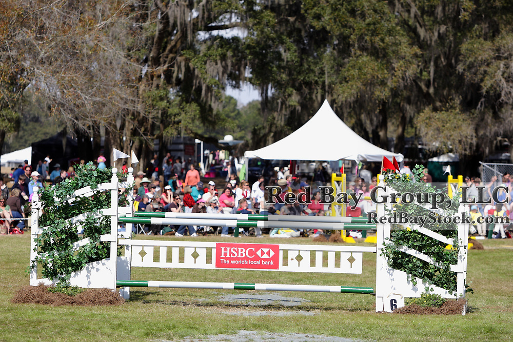 Show Jumping fence at the 2010 HSBC FEI World Cup Eventing Qualifier at Red Hills Horse Trials in Tallahassee, Florida