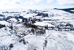 © Licensed to London News Pictures. 02/01/2019. Ponterwyd, UK. Snowy landscape at Ponterwyd vilage in Ceredigion, Wales as the bitterly cold winter weather continues to grip much of the UK. Photo credit: Keith Morris/LNP