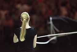 Elisabeth Bieri, (SUI), Rocky xxxviii CH, Corinne Stump - Individuals Women Technical Vaulting - Alltech FEI World Equestrian Games™ 2014 - Normandy, France.<br /> © Hippo Foto Team - Jon Stroud<br /> 04/09/2014