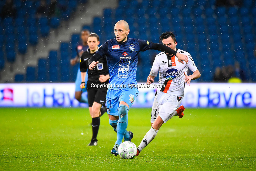 Ludovic GAMBOA  - 12.12.2014 - Le Havre / Laval - 17eme journee de Ligue 2 <br /> Photo : Fred Porcu / Icon Sport