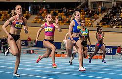 11-02-2017 NED: AA Drink NK Indoor, Apeldoorn<br /> Bowien Jansen 209, Lieke Klaver 237 en Demi van den Wildenberg 457 op de 60 meter