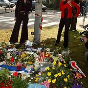 Bloemen moordplek Pim Fortuyn mediapark Hilversum