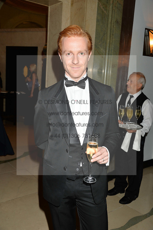 STEVEN McRAE at a dinner hosted by the Royal Academy of Dance to present the Queen Elizabeth II Award 2014 held at Claridge's, Brook Street, London on 4th September 2014.