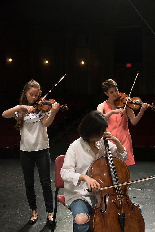 Chamber music rehearsal at Carnegie Mellon University's  School of Music