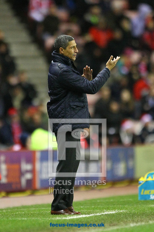 Picture by Paul Chesterton/Focus Images Ltd +44 7904 640267<br /> 21/12/2013<br /> Norwich Manager Chris Hughton during the Barclays Premier League match at the Stadium Of Light, Sunderland.