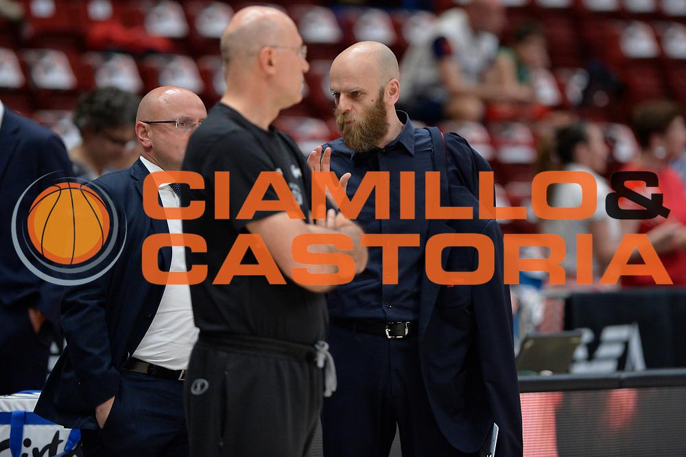 Massimo Cancellieri<br /> Olimpia EA7 Emporio Armani Milano vs Dolomiti Energia Trentino<br /> Lega Basket Serie A 2016/2017<br /> PlayOff semifinale gara 2<br /> Milano 27/05/2017<br /> Foto Ciamillo-Castoria / I.Mancini