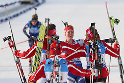 11.03.2016, Holmenkollen, Oslo, NOR, IBU Weltmeisterschaft Biathlon, Oslo, 4x6 Km Staffel, Damen, im Bild Marte Olsbu (NOR) // during 4x6 km women relay of the IBU World Championships, Oslo 2016 at the Holmenkollen in Oslo, Norway on 2016/03/11. EXPA Pictures © 2016, PhotoCredit: EXPA/ Newspix/ Tomasz Jastrzebowski<br /> <br /> *****ATTENTION - for AUT, SLO, CRO, SRB, BIH, MAZ, TUR, SUI, SWE only*****