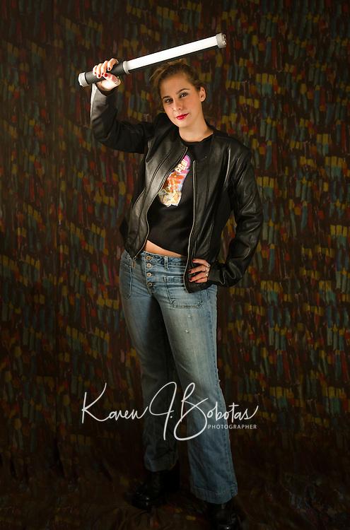 Emily Rose portrait session with multiple light setup.<br /> ©2015 Karen Bobotas Photographer